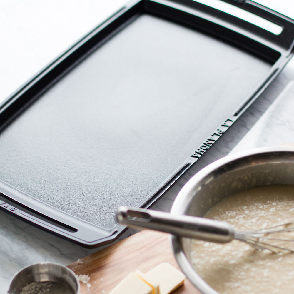 Staub Cast Iron Double-Burner Griddle and Plancha