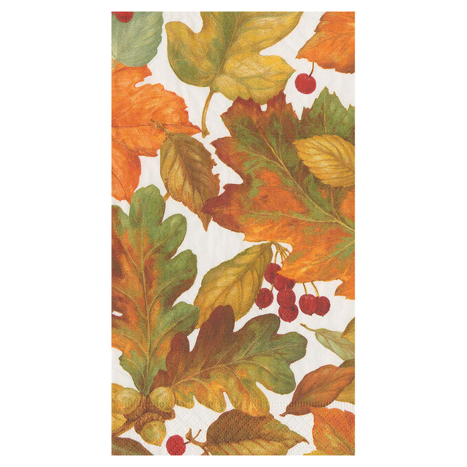 Autumn Leaves Guest Napkins, Set of 15