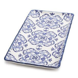 Blue Tile Rectangular Platter