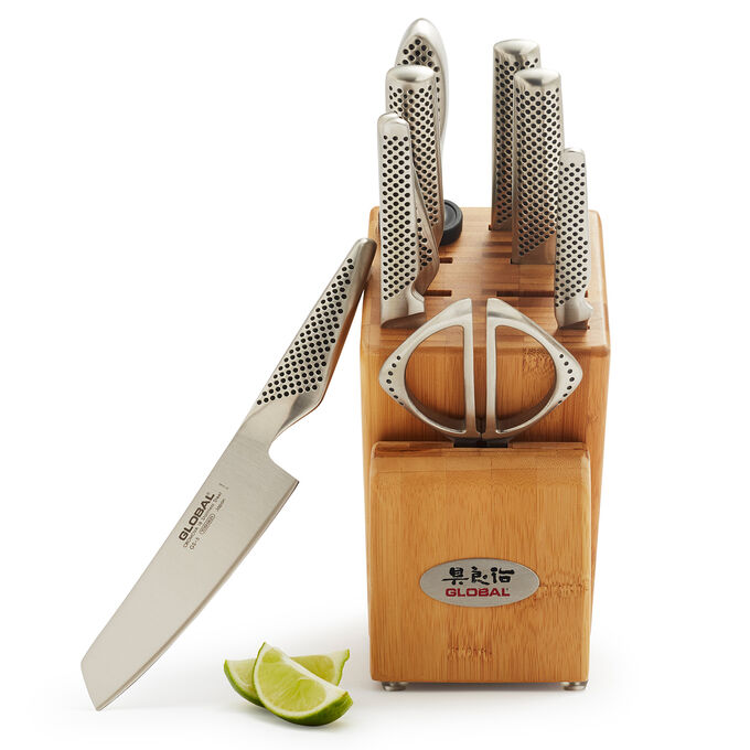 Global 10-Piece Takashi Knife Block Set