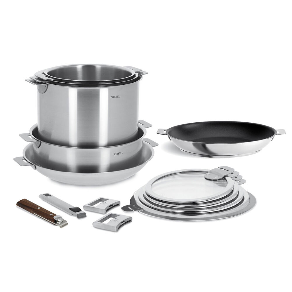 Cristel Strate 15-Piece Cookware Set