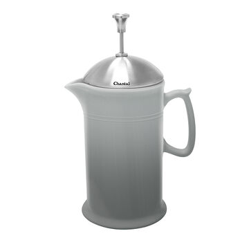 Chantal Ceramic French Press with Stainless Steel Plunger and Lid