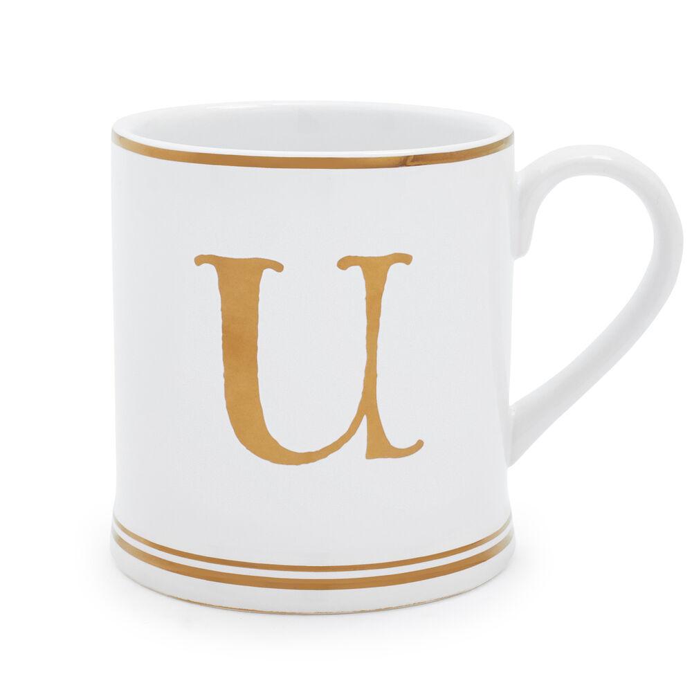 Gold Monogram Mugs