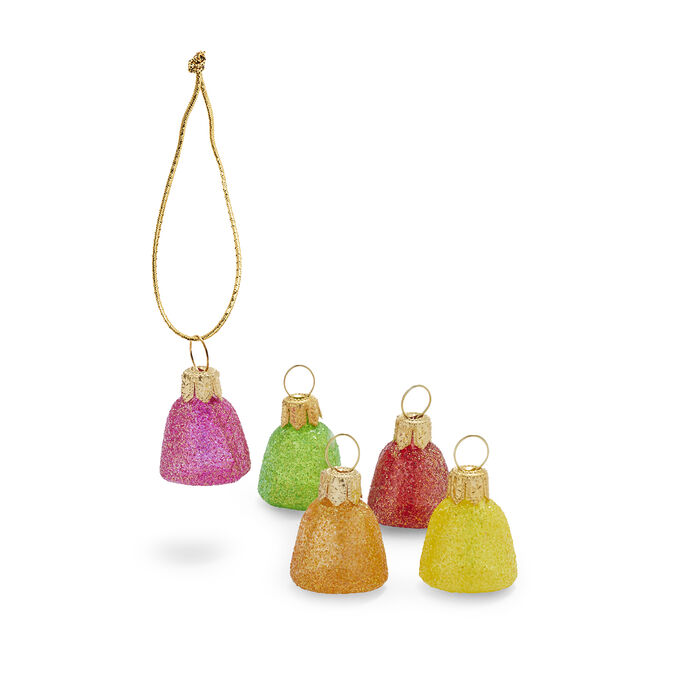 Gumdrop Glass Ornaments, Set of 5