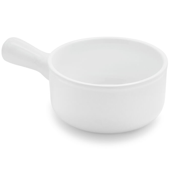 Porcelain Soup Bowl with Handle