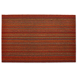 Chilewich Skinny Stripe Shag Mat, Orange