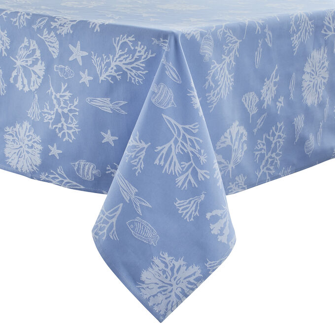 Jacquard Coral Tablecloth