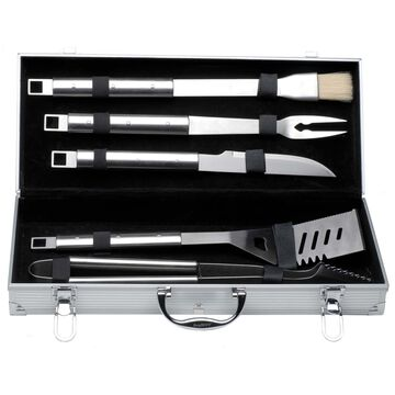 BergHOFF Cubo 6-Piece Stainless Steel BBQ Tool Set with Case