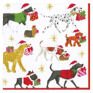 Christmas Dogs Delivery Cocktail Napkins, Set of 20