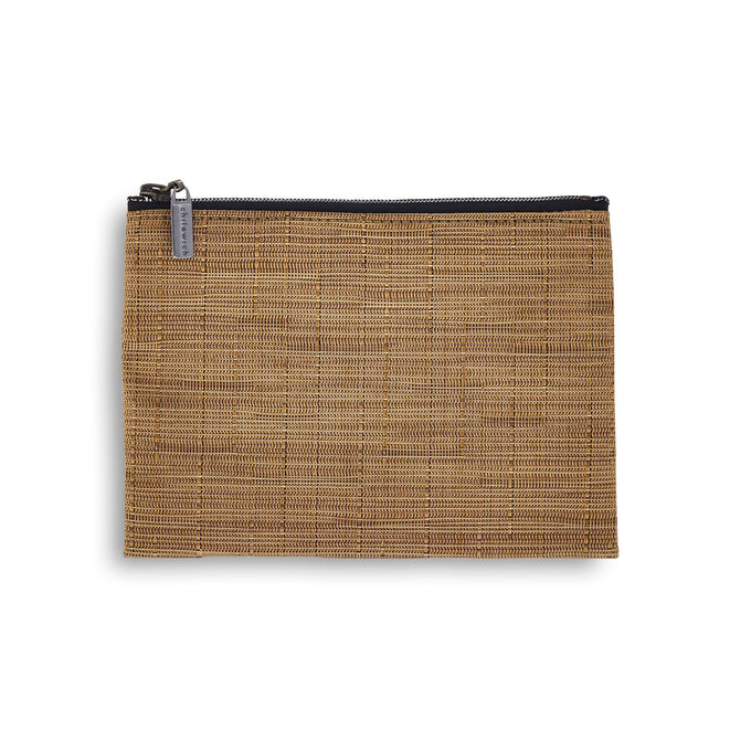 Chilewich Bamboo Medium Zip Pouch