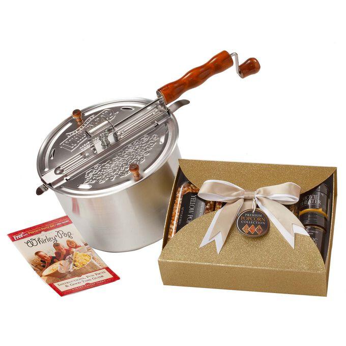 Whirley Pop Nostalgic Gourmet Popcorn Starter Set