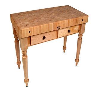 """John Boos & Co. Cucina Rustica Table, 48"""" x 24"""""""