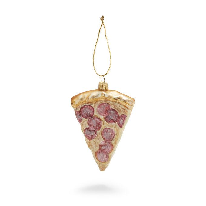 Pizza Slice Glass Ornament