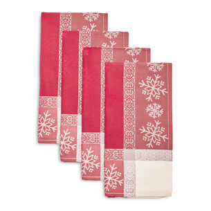 Jacquard Snowflake Christmas Napkins, Set of 4