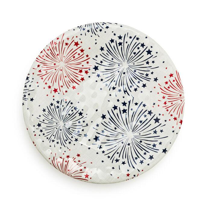Fireworks Melamine Salad Plate
