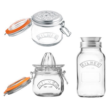 Kilner Spiralizer, Juicer, and Grater Set