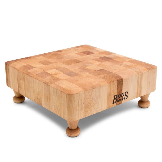 """John Boos End-Grain Maple Chopping Block with Feet, 12"""" x 12"""""""