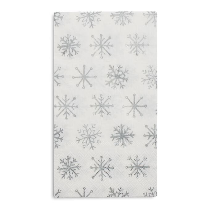 Snowflake Paper Guest Napkins, Set of 20