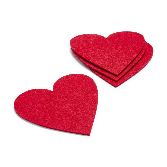 Felt Heart Coasters, Set of 4