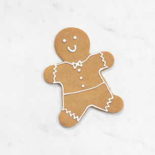 Copper-Plated Gingerbread Boy Cookie Cutter with Handle