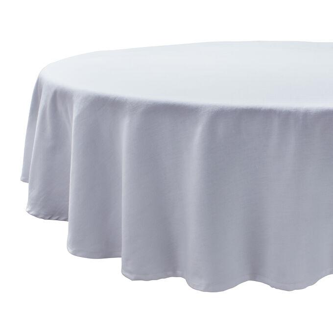 "Round Herringbone Tablecloth, 70"""