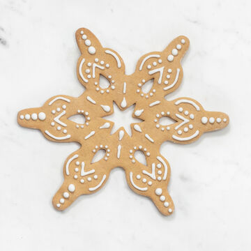 Large Snowflake Copper-Plated Cookie Cutter