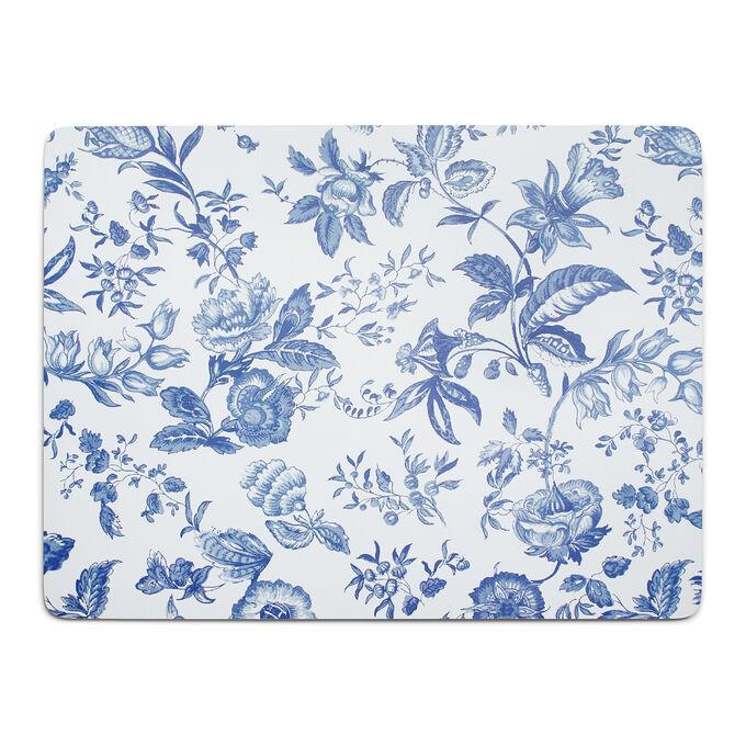 Blue Floral Cork Placemat