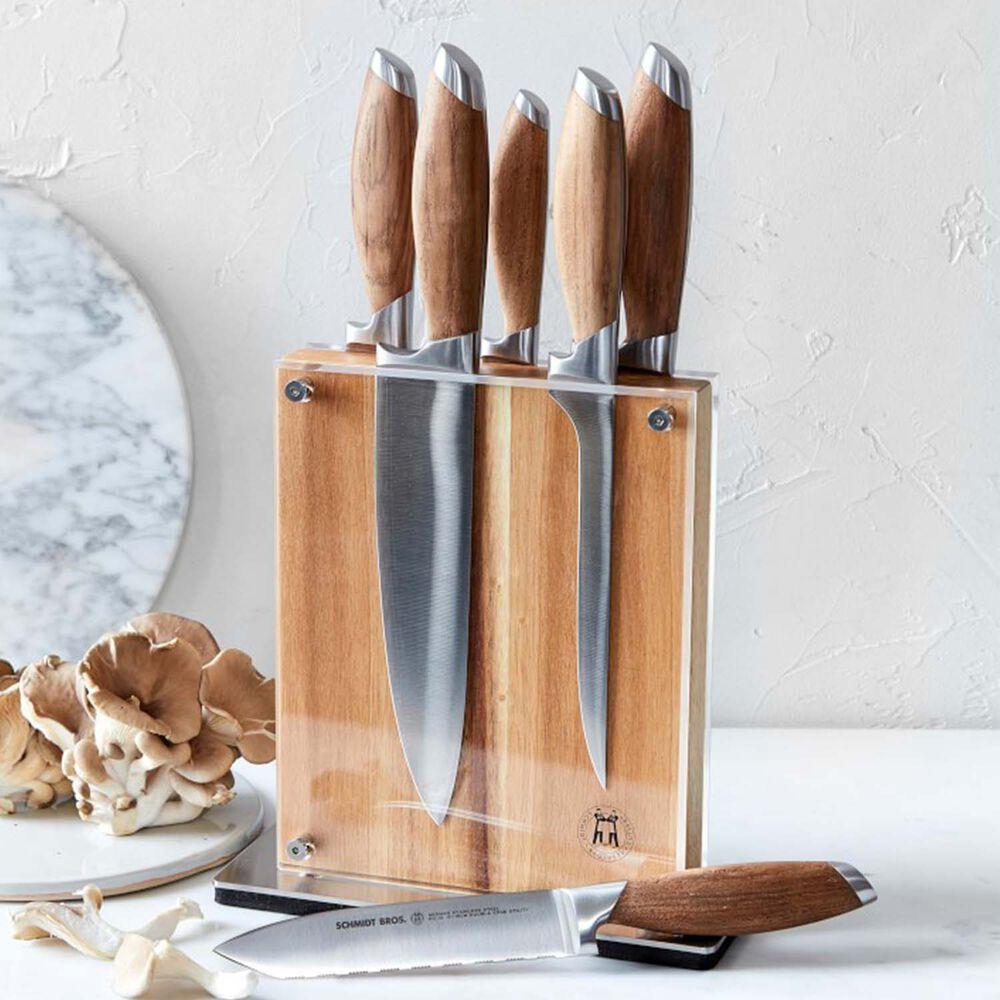 Schmidt Brothers Cutlery Bonded Teak 15-Piece Knife Block Set