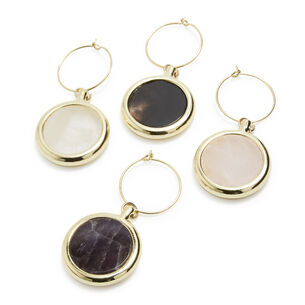 Agate Wine Charms, Set of 4