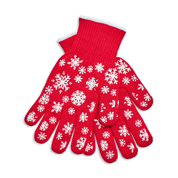 Snowflake Oven Mitts, Set of 2