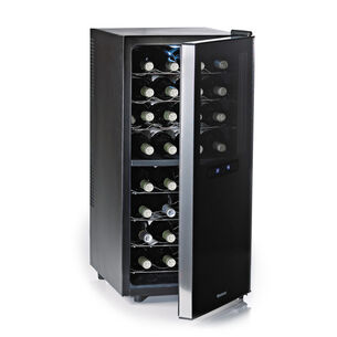 Wine Enthusiast Silent Touchscreen Dual-Zone Refrigerator, 32 Bottle