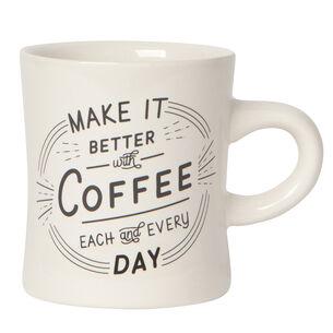 Better with Coffee Diner Mug, 12 oz.