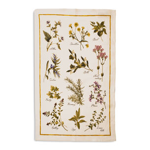 "Herbs Linen Kitchen Towel, 28"" x 20"""