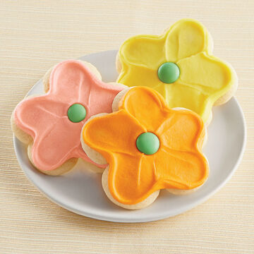 Cheryl's Frosted Flower Cookies, Set of 36