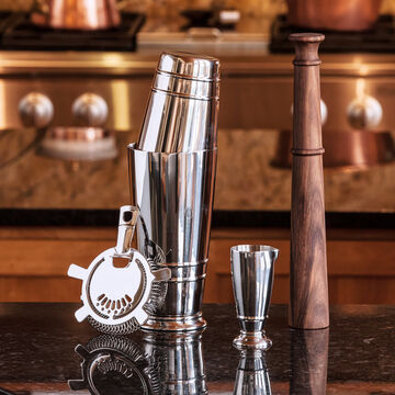 Crafthouse by Fortessa 4-Piece Cocktail Shaker Set