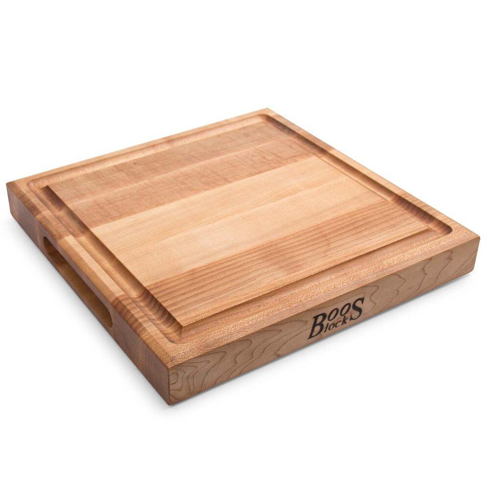 Maple Square Edge Grain Board with Groove