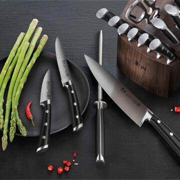 Cangshan TS Series Swedish Sandvik Steel Forged Walnut Knife Block, Set of 17