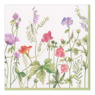 French Floral Cocktail Napkins, Set of 20