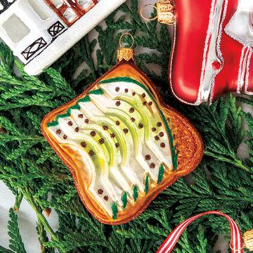 Avocado Toast Glass Ornament