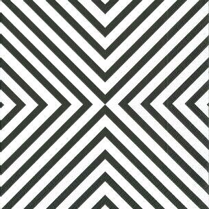 Black & White Chevron Cocktail Napkins, Set of 20
