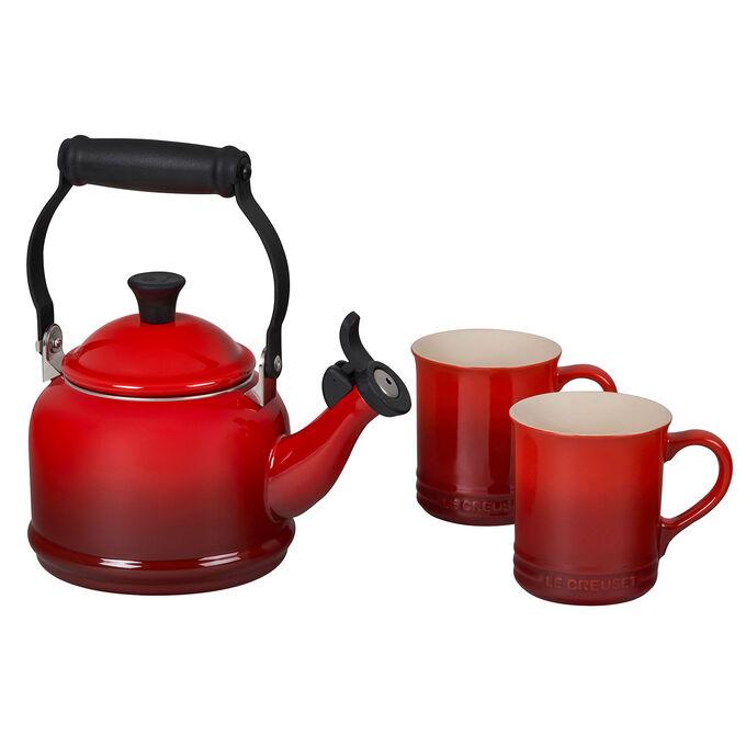 Le Creuset 3-Piece Demi Kettle & Mug Set