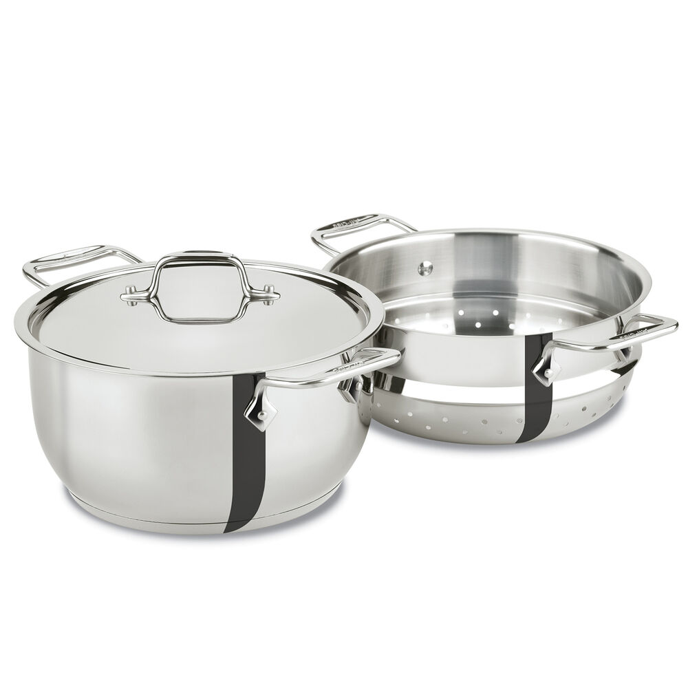 All-Clad Casserole with Lid and Steamer Insert, 5 qt.