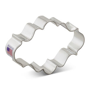Oval Plaque Cookie Cutter, 4""