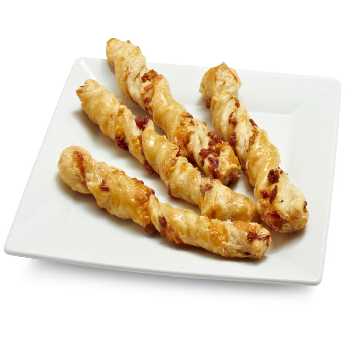 Gaston's Bakery Bacon Cheddar Puff Pastry Twists