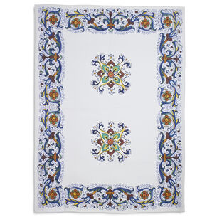 "Deruta-Style Linen Kitchen Towel, 28"" x 20"""