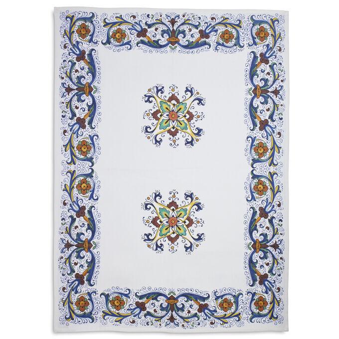 """Deruta-Style Linen Kitchen Towel, 28"""" x 20"""""""