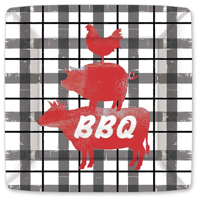 BBQ Choice Paper Plates, Set of 8