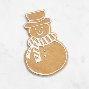 Copper-Plated Snowman Cookie Cutter with Handle