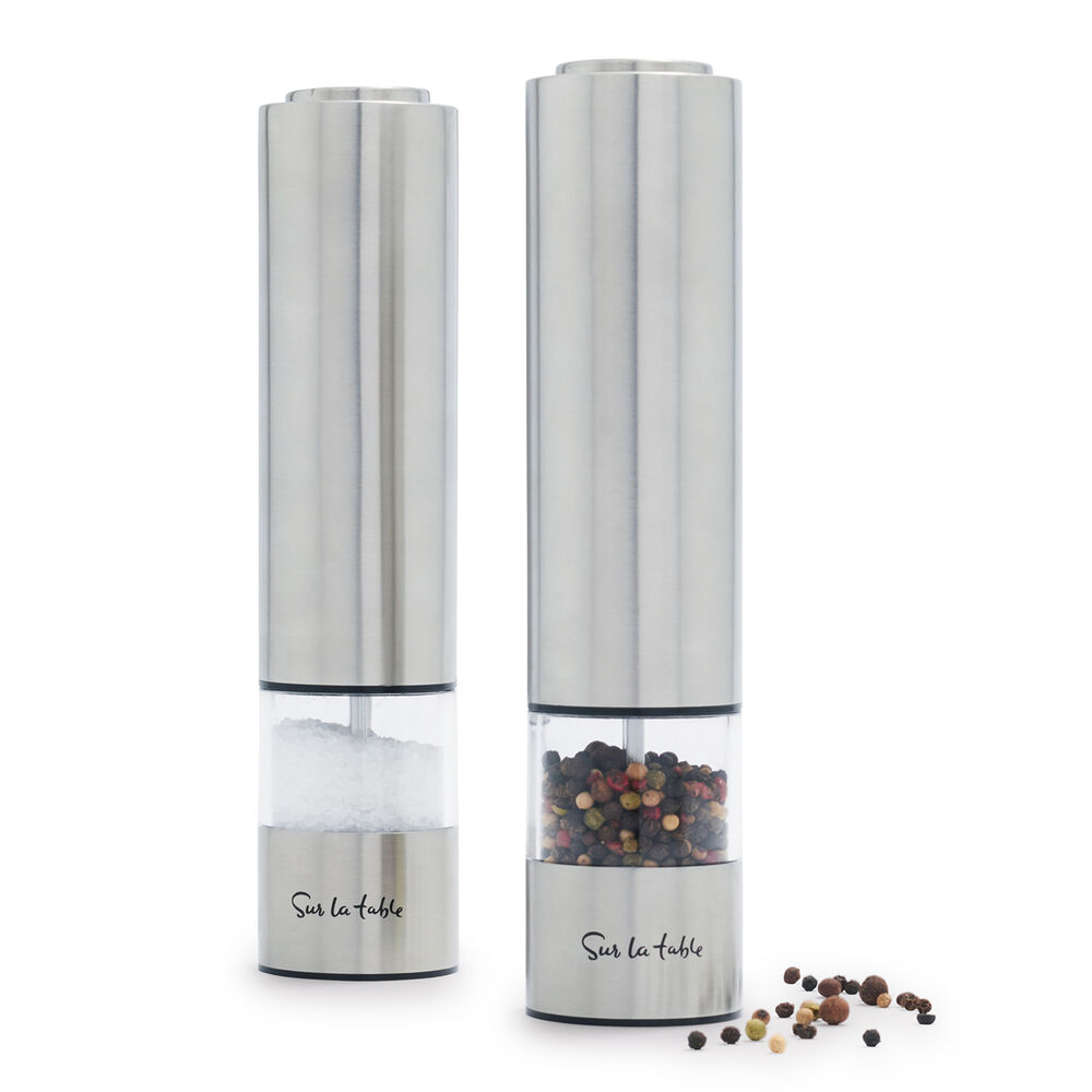 Sur La Table Electric Salt & Pepper Mill Set