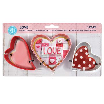 Heart Cookie Cutters, Set of 3